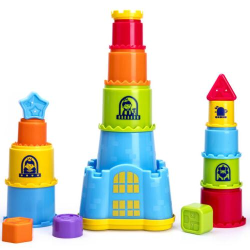 Baby Stacking,Nesting and Sorting Cups,baby toys  12, 18 Mon