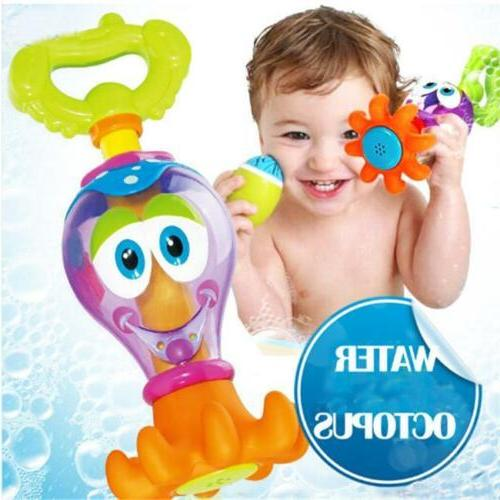 Bath Time Toys Bathing Shower Octopus For Baby Boys Girls Wa