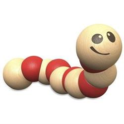 BeginAgain Earthworm Wooden Toy - Skill Learning: Grasping,