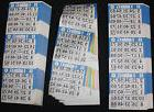 BINGO PAPER Card 3 on 6 Blue Bdr 100 packs FREE PRIORITY SHI