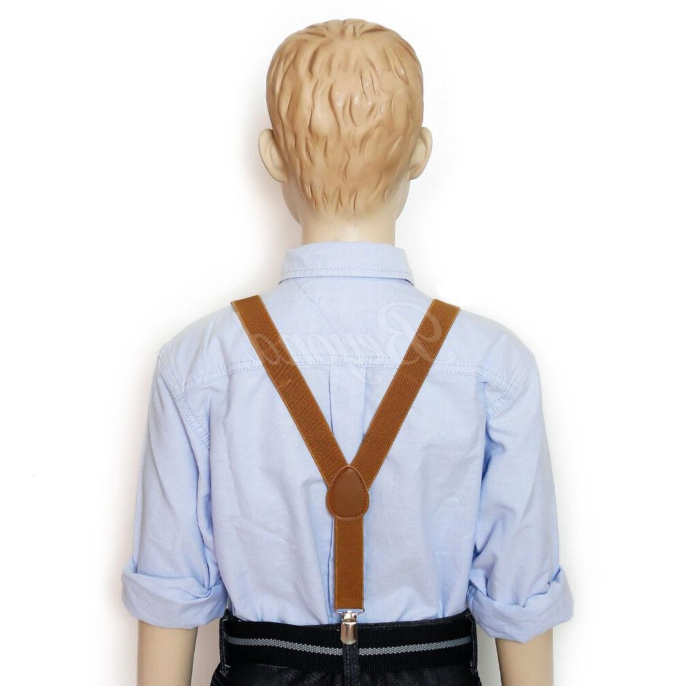 Brown Suspender Tie for Toddler Girls