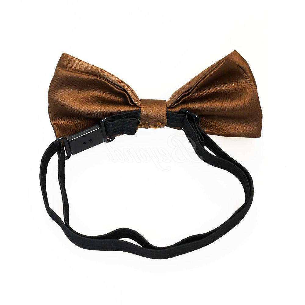 Brown Suspender Tie for Toddler