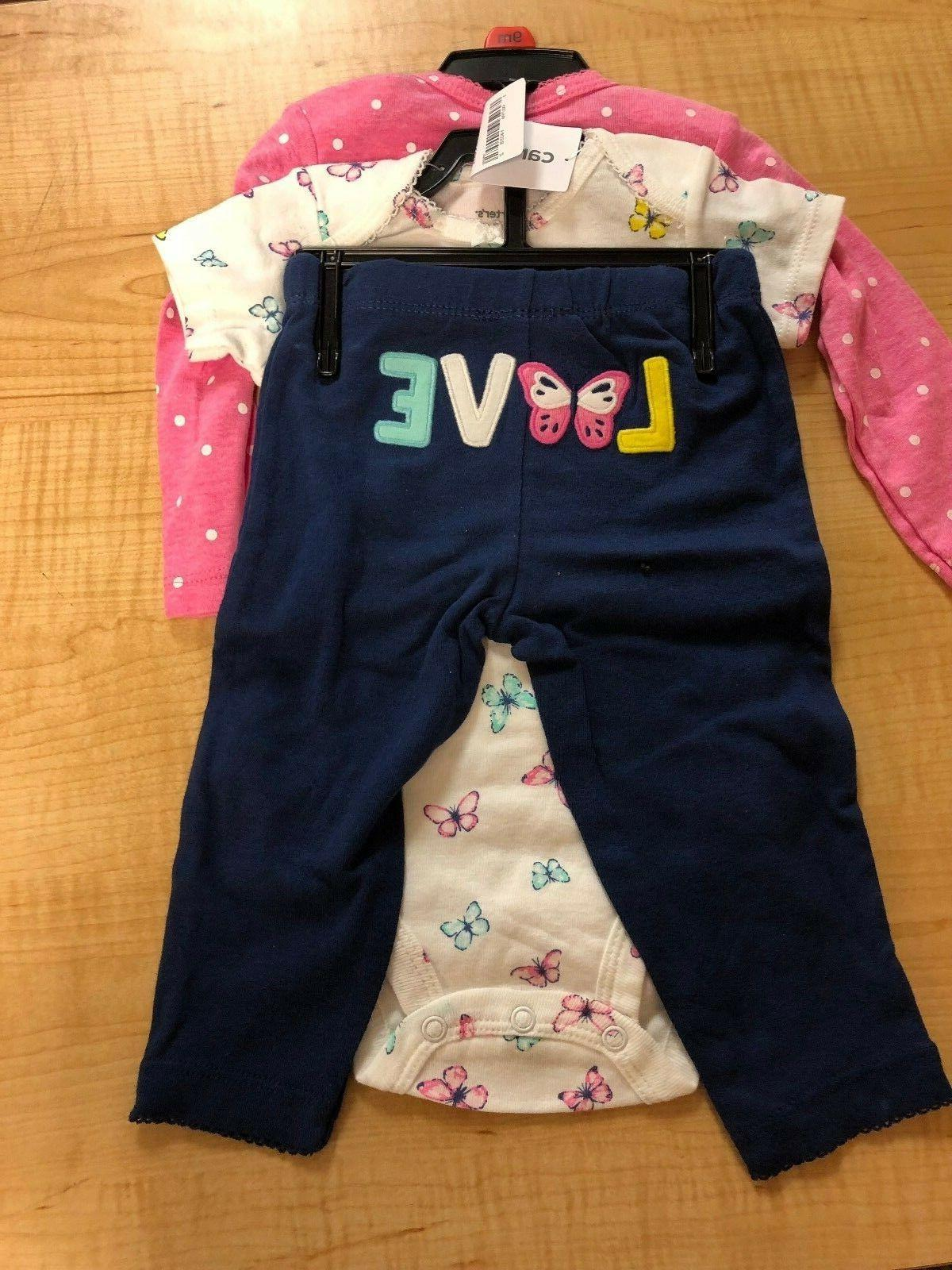 carter s 3 piece baby girls outfit