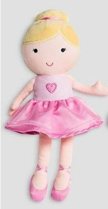 Carters Just One You - Rattle Doll Baby Plush - Blonde