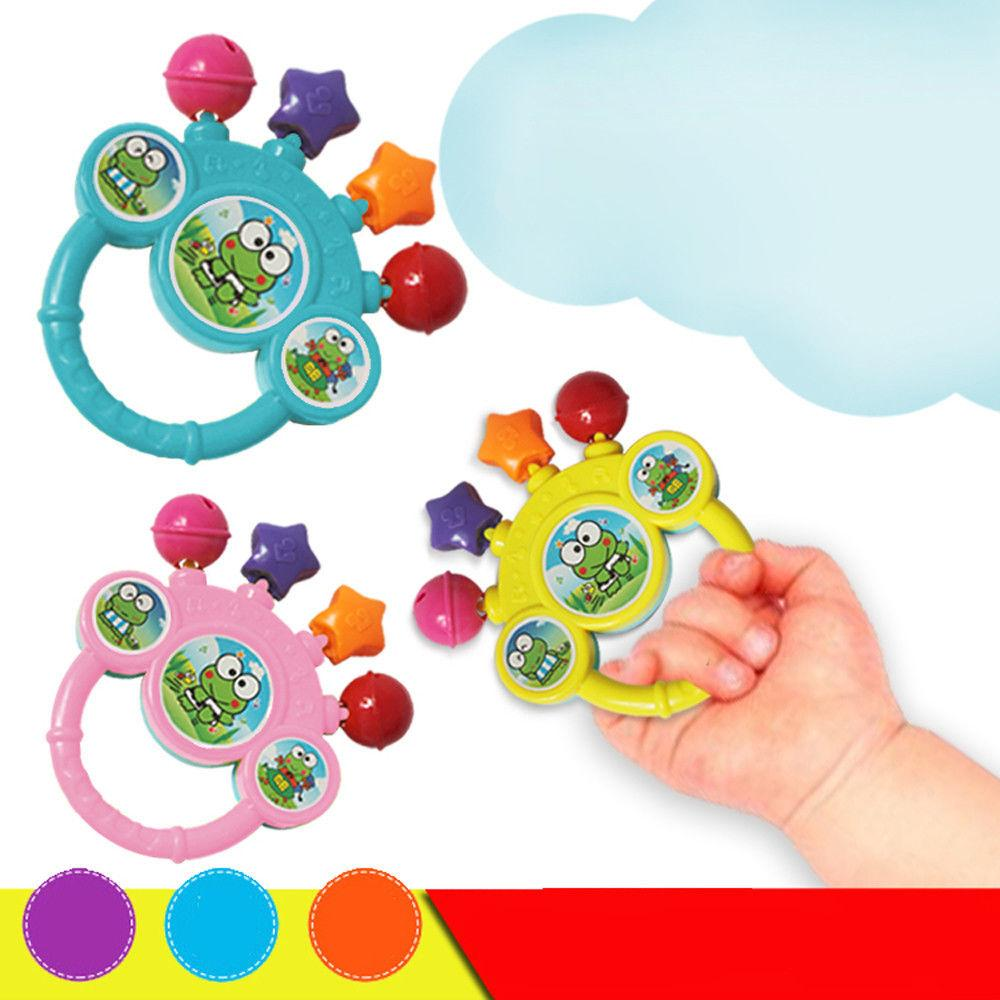 Cartoon Infant Bell Rattles Newborns Toys Hand Toy