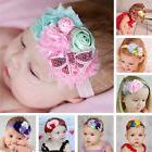 New Chic Baby Kids Girls Lace Bow Flower Hair Band Elastic H