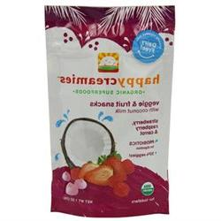 Happy Creamies Snck Organic Stwbry And Raspberryry - 1 Oz
