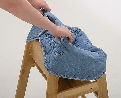 Denim Clean Diner High Chair Cover for Baby - New Free Shipping!
