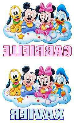 Disney Babies Iron On Transfer for LIGHT Fabric Personalized