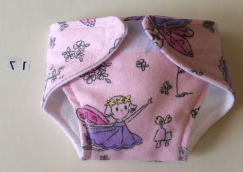 """Handmade Diapers 15"""" Bitty Baby - 2 layers flannel choose your"""
