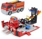 Kid's Fire Truck Helicopter Lights Sounds Fold Up Fast Lane