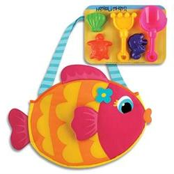 Fish Beach Tote & Sand Toy Play Set