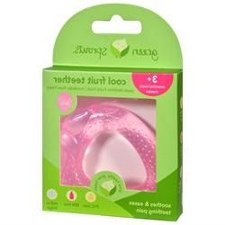 Fruit Cool Soothing Teether in Pink Strawberry