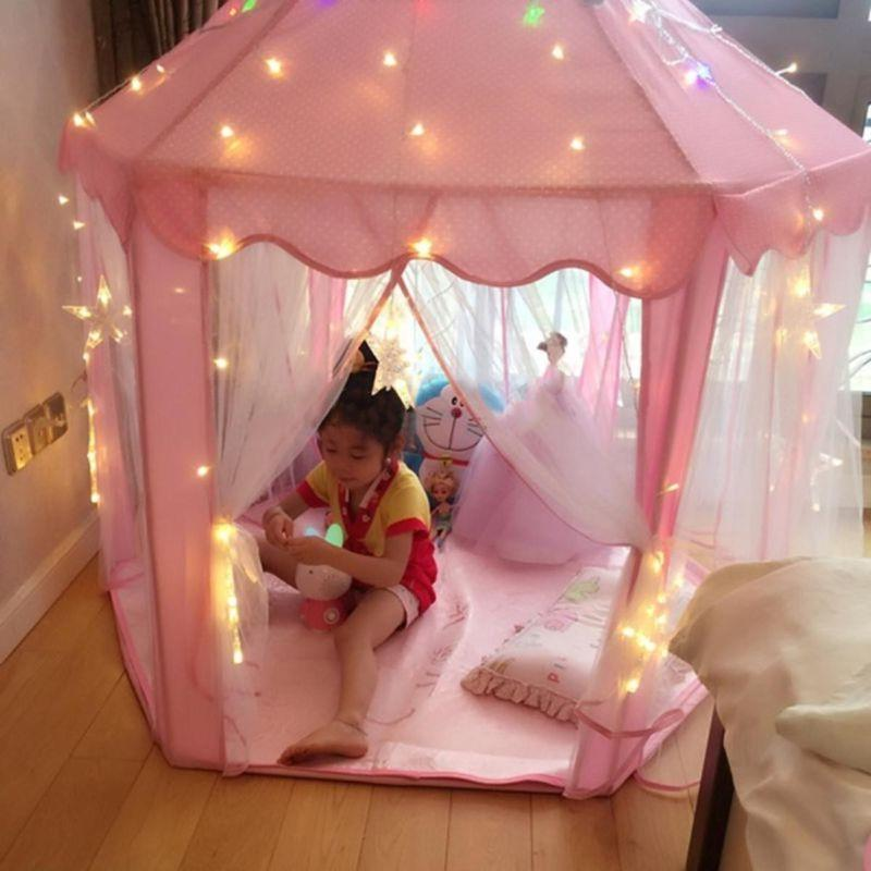 Girls Pink Castle Cute Playhouse Children Play