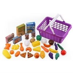 Click n' Play 33 Pc. Grocery Shopping Play Toy Food Set, Fru