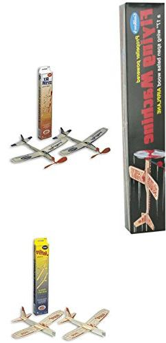 Guillow Balsa Wood Airplane Set - 3 Balsa Airplane Kits in O