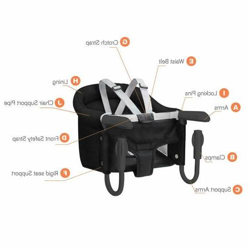 Hook Chair Infant Toddler Feeding Fast Table High Baby 3 Colors