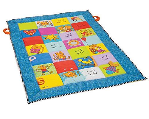 Toys I Love Big Mat Activity Play Mat with Baby Safe Mirror,