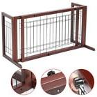 Indoor Home Safety Wood Baby Barrier Free Standing Extra Wid