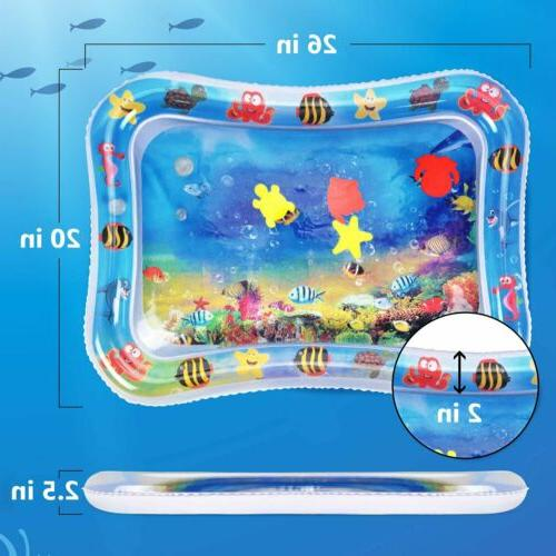 Inflatable Water Mat For Baby Infant Toddlers Splash Tummy Time