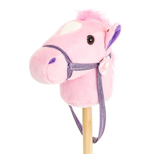 Best Products 36in Kids Horse Plush Toy w/ Sounds Pink