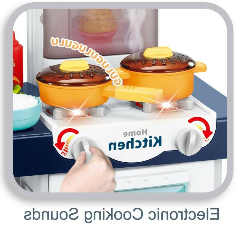 For Pretend Toy Kitchen Water Sounds Kitchenware Cooking