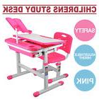 Kids Study Table And Chair Set With Storage Little Girls Des