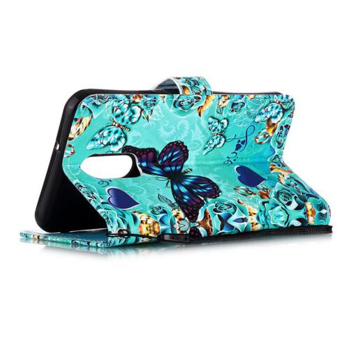 For LG Stand Phone Case Cover Flip Strap Card Wallet