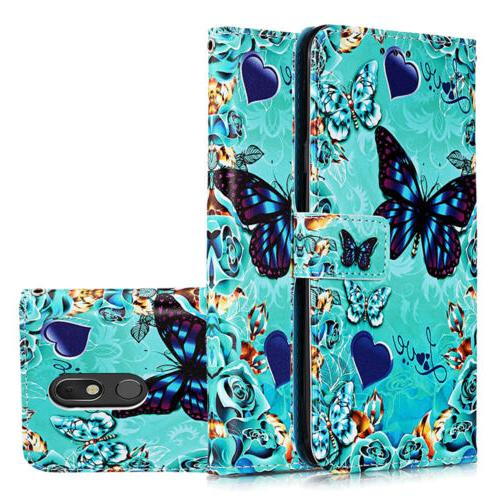 For Stylo 5 Stand Phone Case Flip Patterned Card Wallet