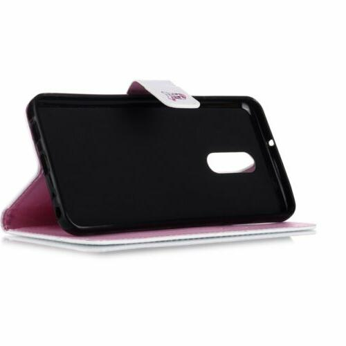 For 5/Stylo 4 Leather Card Flip Wallet