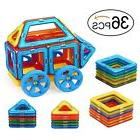 Quadpro 36 Piece Magnet Tiles Magnetic Building Blocks for K