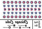 MLB - Chicago Cubs Waterslide Nail Decal - 50 PC