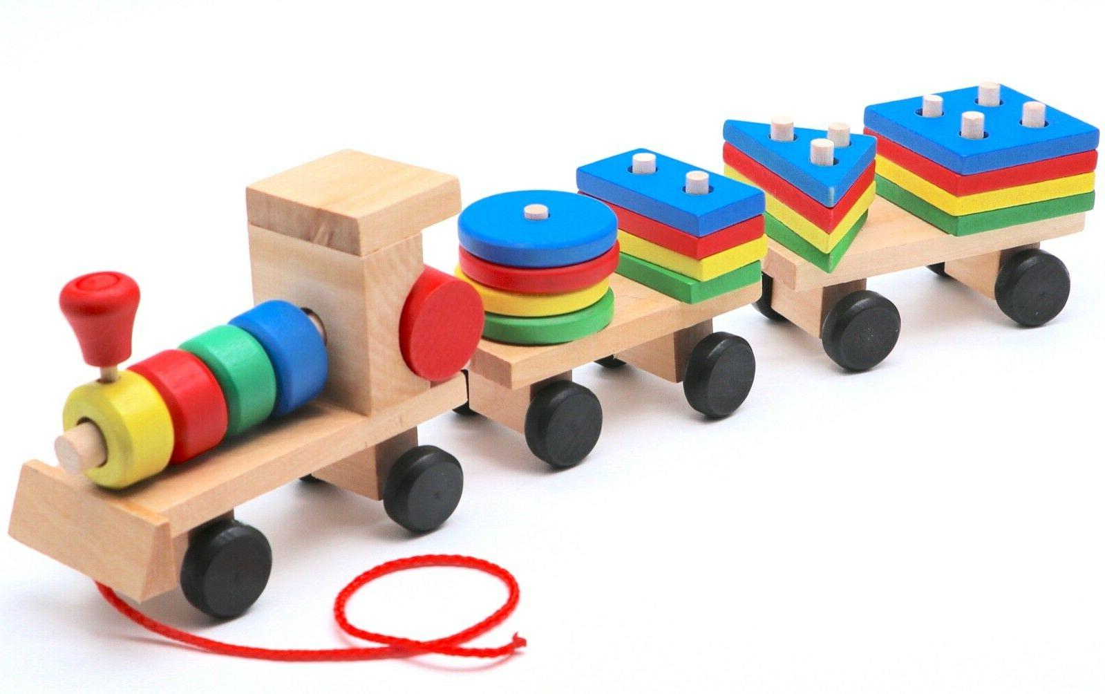 Montessori Wooden Train with Babies Gifts