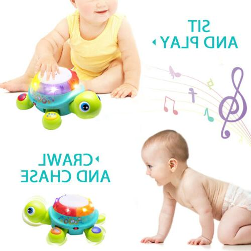 Musical Turtle Toy, English & for 6mouths up