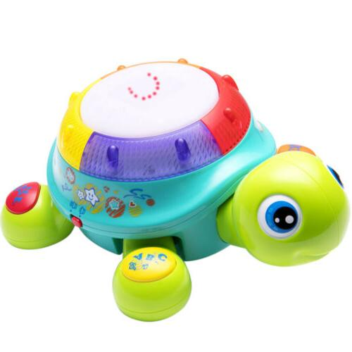 musical turtle toy english and spanish learning