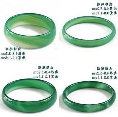 Natural Beautiful Agate Jade Bangle Bracelet Hand-Carved For