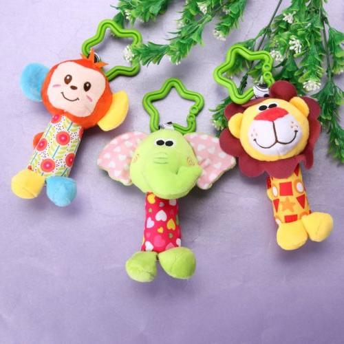 Newborn Rattle Plush Baby Mobile for Kids Ring Crib Doll