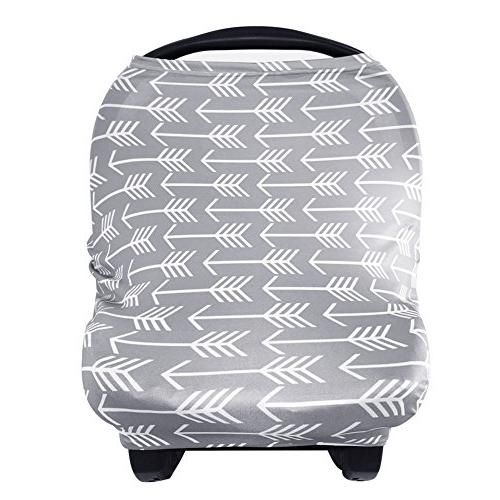 Nursing Cover Breastfeeding Scarf - Baby Car Seat Covers, In