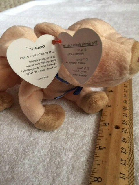 """Ty Beanie Baby """"Knuckles"""" for ages 3+, 6"""""""