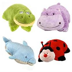 Set of 4 Pillow Pets Pee-Wees Stuffed Animal Plush Kids Bedt
