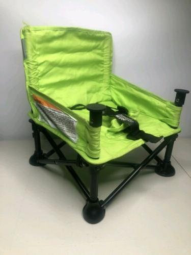 pop and sit portable booster green grey