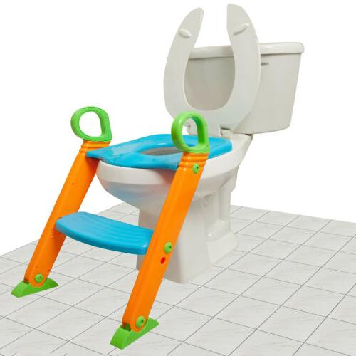 Kids Training Seat with Stool for Toddler Toilet Chair