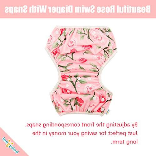 babygoal Reusable for Girls, One Adjustable and Underwear and Swimming FSW05 Rose