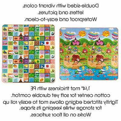Reversible Baby for Giant Learning Playmat