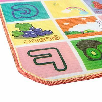 Reversible Baby Play Mat for and Toddlers- Giant Learning
