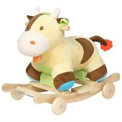 Best Choice Products Kids Ride On Plush Cow Animal Rocker W/