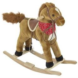 Rocking Horse Plush Brown With Sound toy Boys Rocking Horse