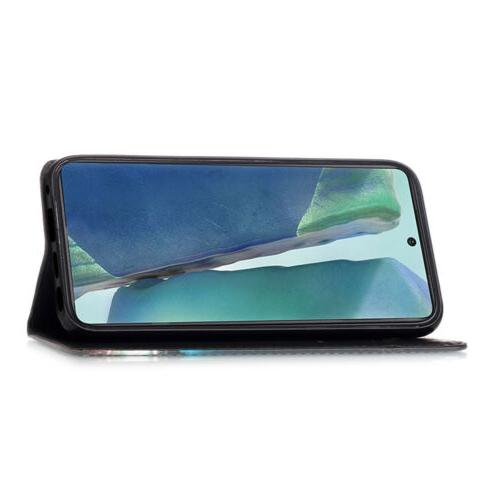 For Samsung Galaxy Ultra Pattern Magnetic Strap Leather