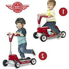 Radio Flyer, Scoot 2 Scooter, 2-in-1 Ride-On and Scooter, Re