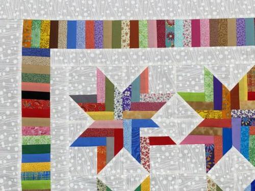 Scrappy Quilt Top for Baby Lots Color